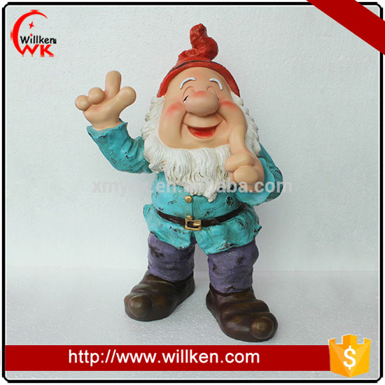 Custom resin dwarf cheap garden gnome statues