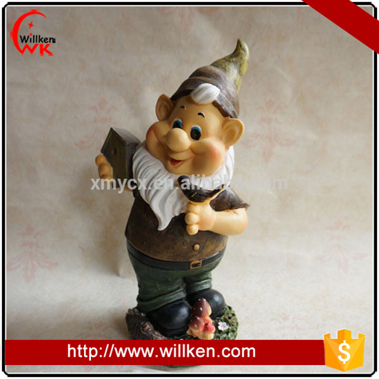 Modern little man gnome figure resin dwarf statue garden