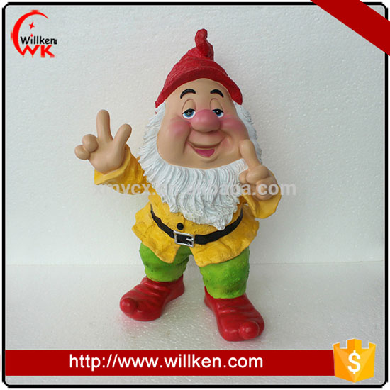 Small resin funny custom mini garden gnome