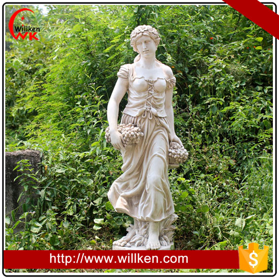 Large outdoor garden decorative female figure sculpture
