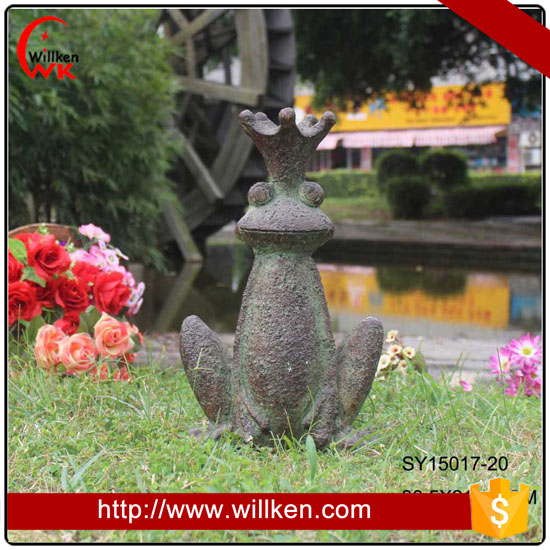 Handmade Fiberglass Outdoor Frog Garden Decoration