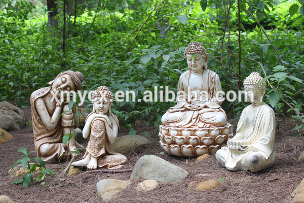 Buddha head carving stone garden ornament for sale for Large garden stones for sale